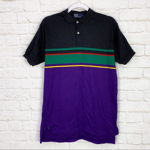 Polo by Ralph Lauren Other - Polo Ralph Lauren Colorblock Striped Polo Shirt L